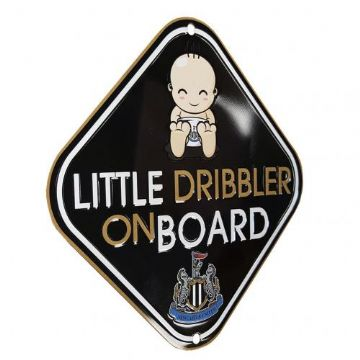 Newcastle United 'Little Dribbler' Baby on Board Sign